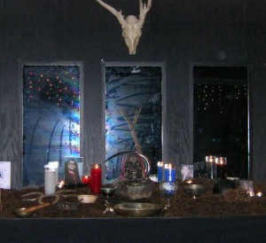 The Greenman Samhain Altar