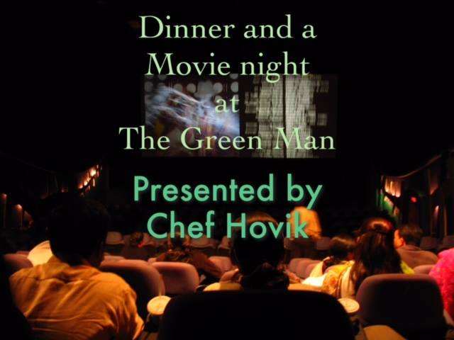 Nightmare Before Christmas movie night with Chef Hovik fllyer