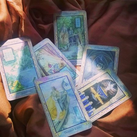 cards for the intuitive tarot series at the Green Man Store Los Angeles