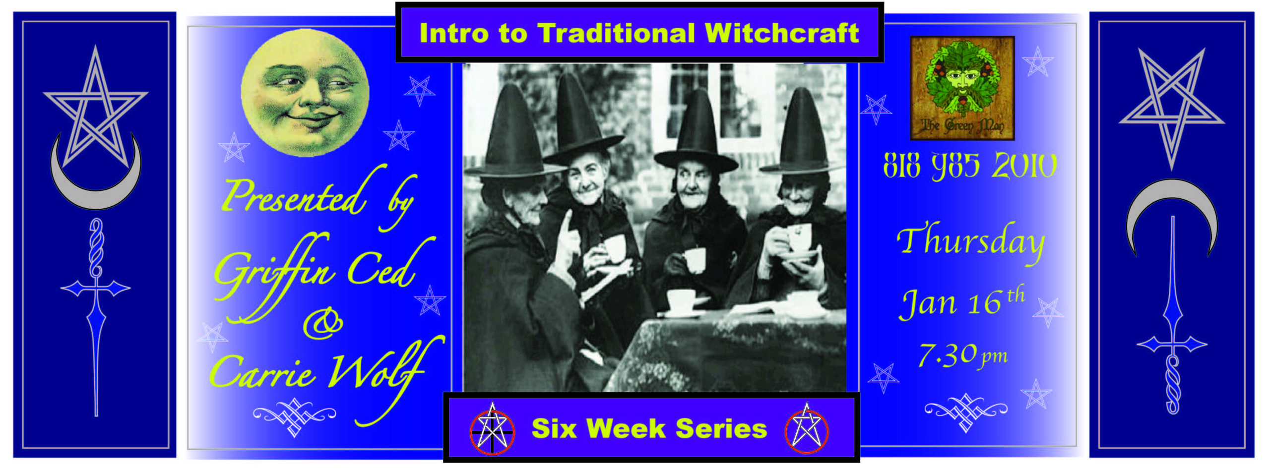 Witchcraft for Beginners with Griffin & Carrie flyer