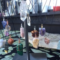 New Wire-Wrapped Crystal Necklaces in Store