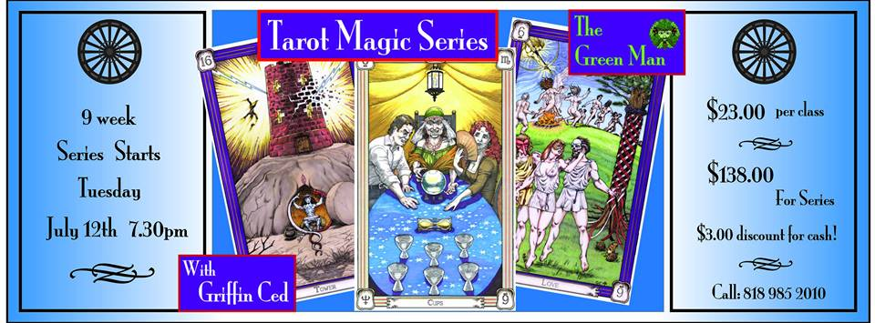 Tarot Magic Series with Griffin Ced flyer