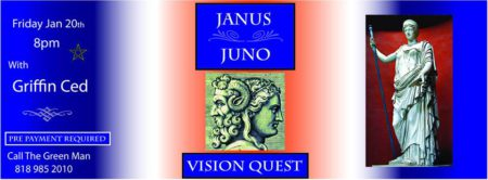 Janus & Juno Vision Quest with Griffin flyer