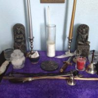Wiccan altar construction