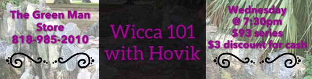 wicca 101 series flyer with Hovik