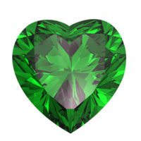heart shaped May birthstone Emerald