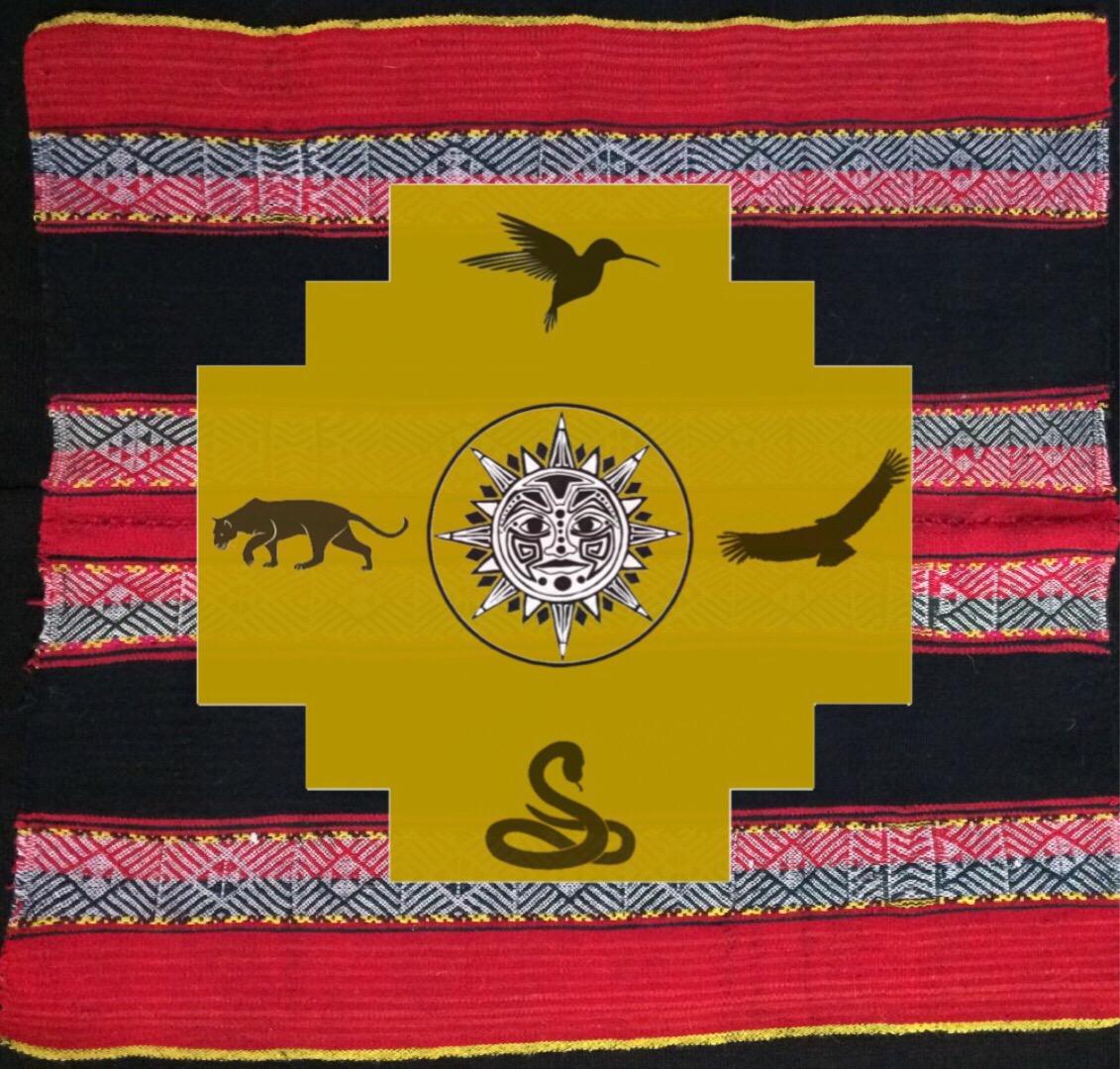 Shamanic Waxing Moon Ritual tapestry