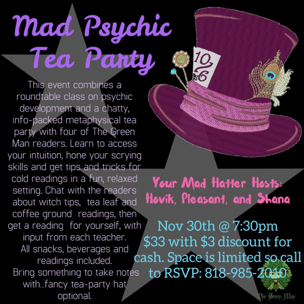 Mad Psychic Tea Party | The Green Man Store LA Metaphysical Store