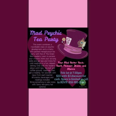 Mad Psychic Tea Party flyer