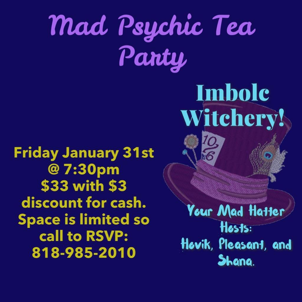 Mad Psychic Tea Party! flyer