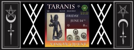 Taranis Vision Quest with Griffin & Carrie flyer