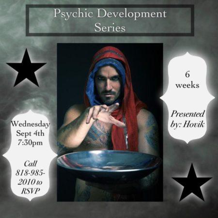 Psychic Development with Hovik flyer