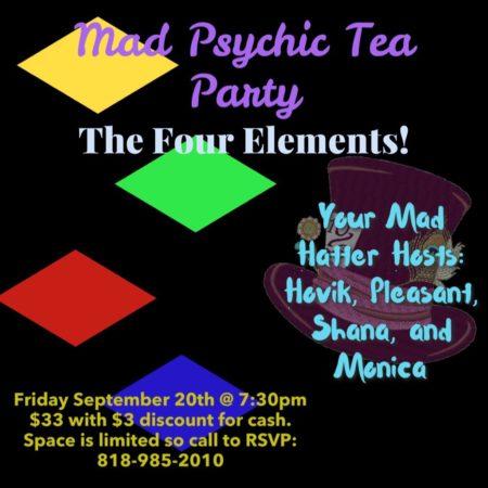 psychic tea party flyer