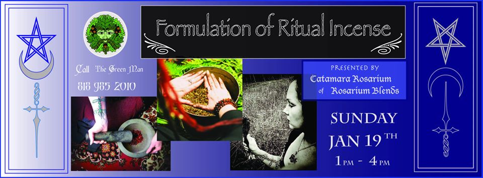 Formulation of Ritual Incense Workshop with Catamara Rosarium flyer
