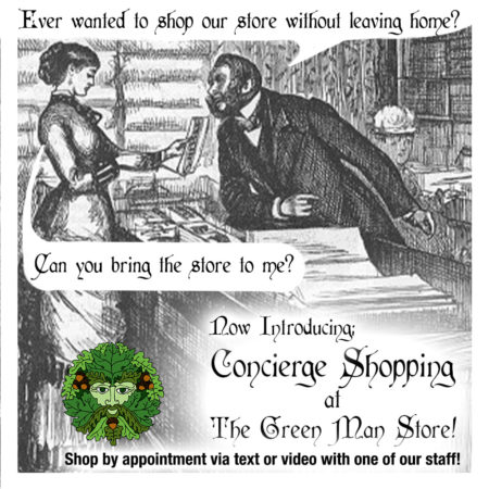 Ever wanted to shop our store without leaving home? Now introducing Concierge Shopping at The Green Man Store! Shop by appointment via text or video with one of our staff